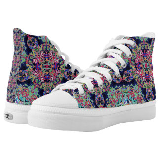 "Sacred Geometry ""Mexicana"" High Tops by MAR"