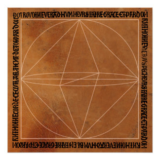 Sacred Geometry on Leather Poster
