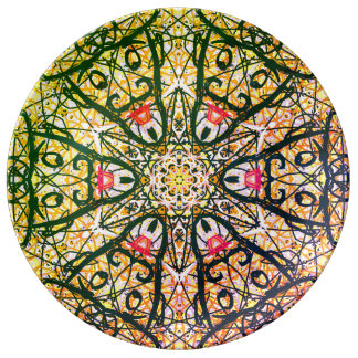 "Sacred Geometry ""Quijote"" Porcelain Plate"" By MAR Plate"
