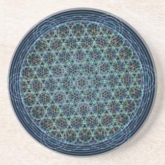 Sacred Geometry - Rain Flower of Life Coasters