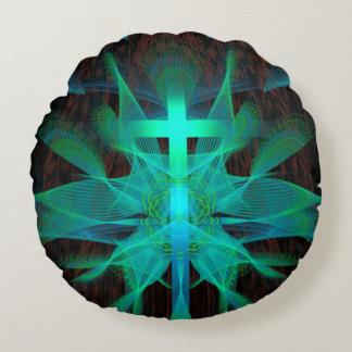 Sacred Geometry Round Cushion