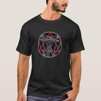 Sacred Geometry - Vitruvian Enneagram  II T-Shirt