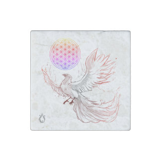 Sacred Geometry Voyager Marble Magnet