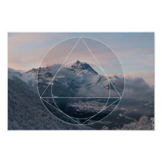 Sacred Geometry vs. The Mountains Poster
