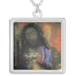 Sacred Heart, 1910 Silver Plated Necklace