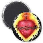 Sacred Heart 2 Refrigerator Magnet