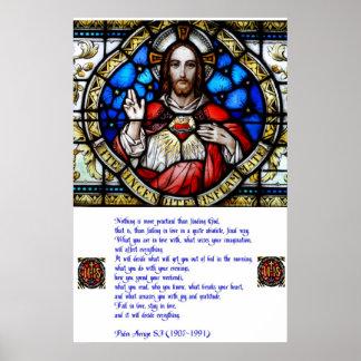 Sacred Heart and Arrupe Prayer Poster