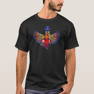 Sacred Heart Angel Wings Design T-Shirt