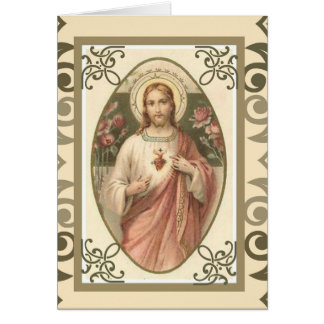 Sacred Heart Catholic Mass Offering Card