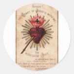 Sacred Heart Classic Round Sticker