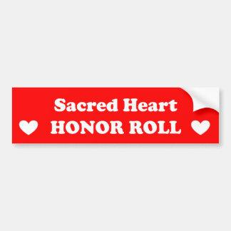 Sacred Heart Honor Roll Bumper Sticker