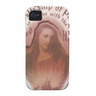 Sacred Heart Jesus Christian Catholic Modern Art iPhone 4 Case
