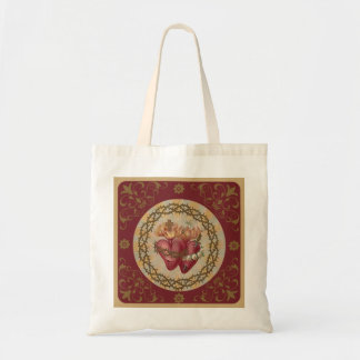 Sacred Heart Jesus  Immaculate Hearts of Mary Tote Bag