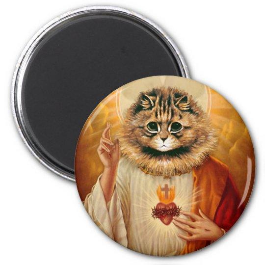 Sacred Heart Kitty Magnet