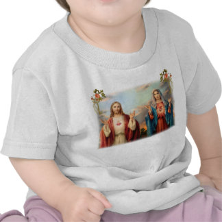 Sacred Heart of Jesus and Immaculate Heart of Mary T Shirts