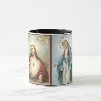 Sacred Heart of Jesus Blessed Mother Mug