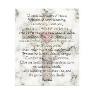 Sacred Heart of Jesus Cross Canvas Prints