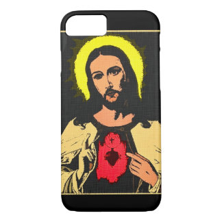Sacred Heart of Jesus Denim Art Print iPhone 7 Case