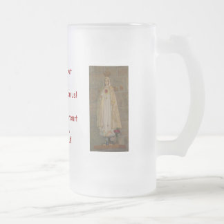 Sacred Heart of Jesus, Immaculate Heart of Mary Frosted Glass Mug