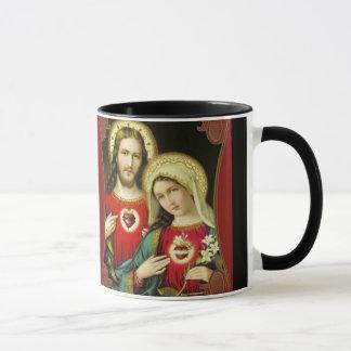 Sacred Heart of Jesus Immaculate Heart of Mary Mug