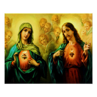 Sacred Heart of Jesus & Immaculate Heart of Mary Print