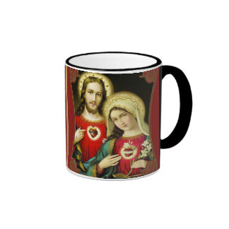 Sacred Heart of Jesus Immaculate Heart of Mary Ringer Mug