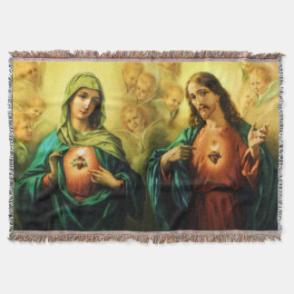 Sacred Heart of Jesus & Immaculate Mary Blanket