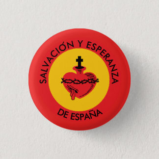 SACRED HEART SPAIN 3 CM ROUND BADGE