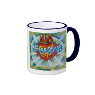 Sacred Immaculate Heart of Mary: Pray for Us Ringer Mug