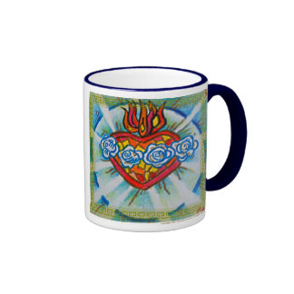 Sacred Immaculate Heart of Mary Ringer Mug