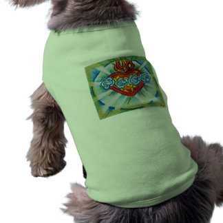 Sacred Immaculate Heart of Mary Sleeveless Dog Shirt
