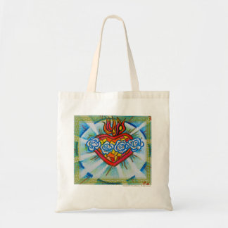 Sacred Immaculate Heart of Mary Tote Bag