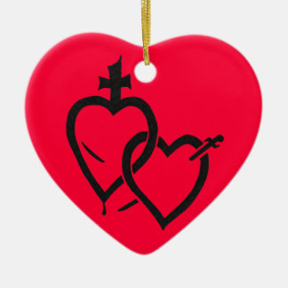 Sacred & Immaculate Hearts Ornament