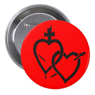 Sacred Immaculate Hearts Pin