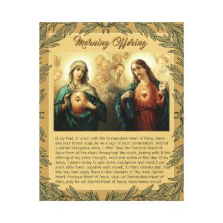 Sacred Jesus Immaculate Heart Mary Angels Cherubs Canvas Print