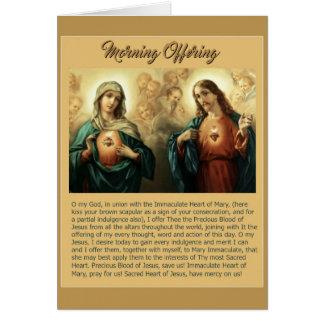 Sacred Jesus Immaculate Heart Mary Angels Cherubs Card