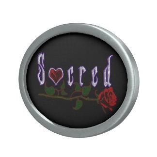 """""""Sacred"""" Logo Belt Buckle"""