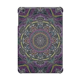 Sacred mandala stars and lace purple and black