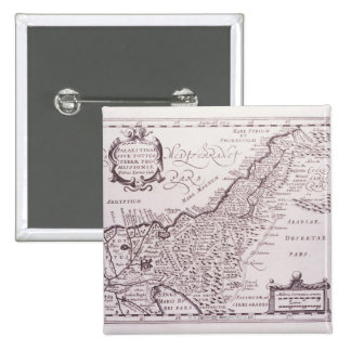 Sacred Map of Palestine, The Promised Land 15 Cm Square Badge