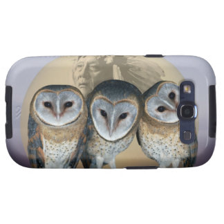 Sacred owls galaxy s3 cover