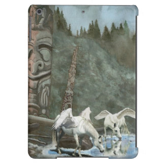 Sacred Pegasi Drinking from River Fantasy Art Cover For iPad Air