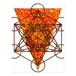 sacred pizzametry postcard