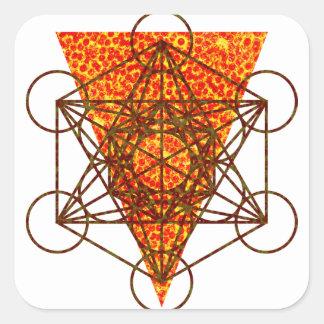 sacred pizzametry square sticker