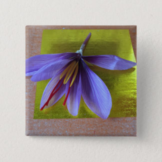 Sacred Saffron 15 Cm Square Badge