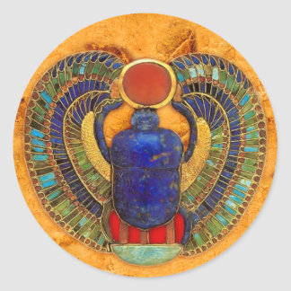 Sacred Scarab of Ancient Egypt Classic Round Sticker
