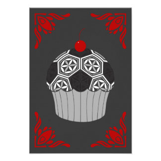 sacred soccer cupcake 9 cm x 13 cm invitation card