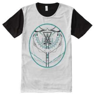 sacred solar glyph All-Over print T-Shirt