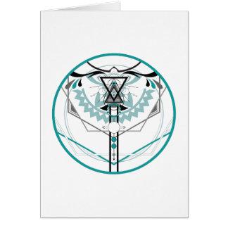 sacred solar glyph card