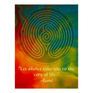 Sacred Union-Rumi and Poetic Art Poster