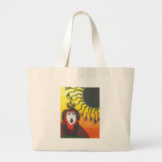 Sacrifice to the Solar Snake God Large Tote Bag